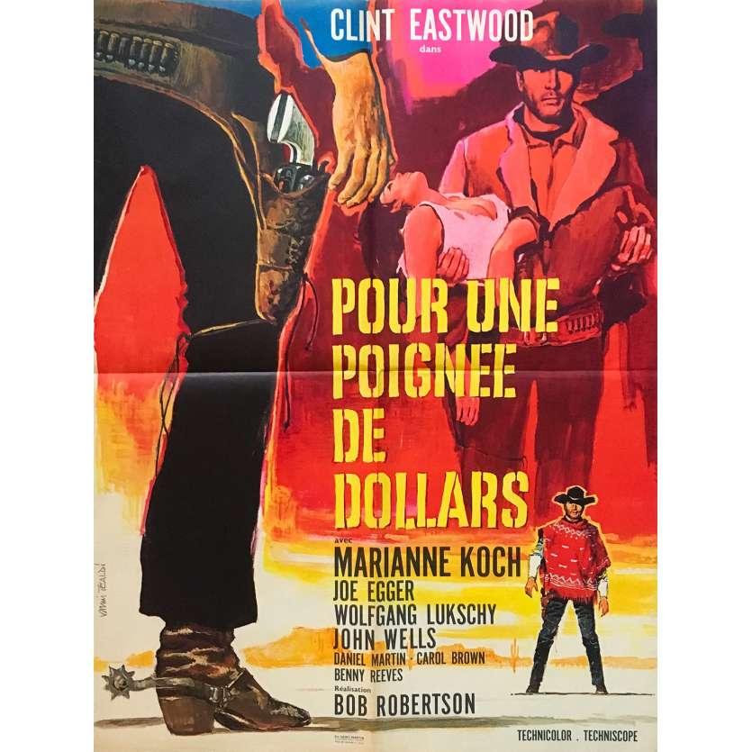 POUR UNE POIGNEE DE DOLLARS Affiche de film 1ère Sortie - 60x80 cm. - 1964 - Sergio Leone
