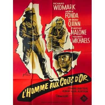 L'HOMME AUX COLTS D'OR Affiche de film - 120x160 cm. - 1959 - Richard Widmark, Henri Fonda, Edward Dmytryk