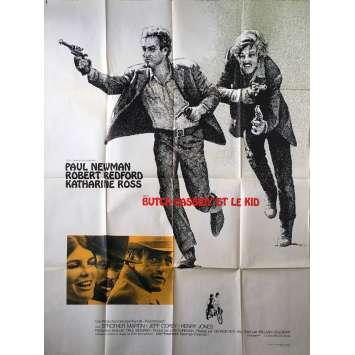 BUTCH CASSIDY ET LE KID Affiche de film - 120x160 cm. - 1969 - Paul Newman, Robert Redford, George Roy Hill