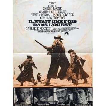 IL ETAIT UNE FOIS DANS L'OUEST Affiche de film 1ère Sortie - 40x60 cm. - 1968 - Henry Fonda, Sergio Leone