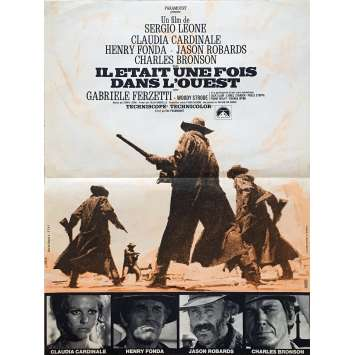ONCE UPON A TIME IN THE WEST Original Movie Poster - 15x21 in. - 1968 - Sergio Leone, Henry Fonda