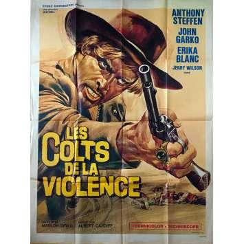 LES COLTS DE LA VIOLENCE Affiche de film - 120x160 cm. - 1966 - Anthony Steffen, Alberto Cardone