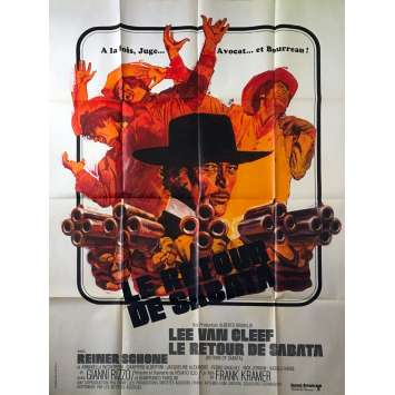 RETURN OF SABATA Original Movie Poster - 47x63 in. - 1972 - Gianfranco Parolini, Lee Van Cleef
