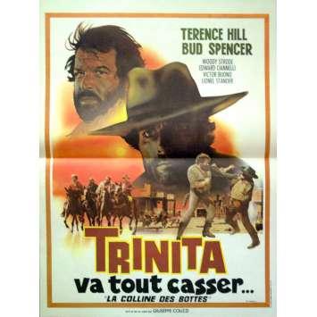 TRINITA VA TOUT CASSER '70 Affiche 40x60 Terence Hill Movie Poster