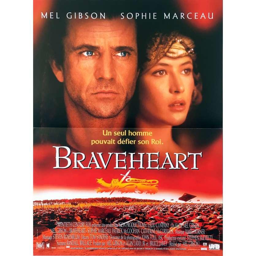 BRAVEHEART Affiche de film - 40x60 cm. - 1995 - Patrick McGoohan, Mel Gibson