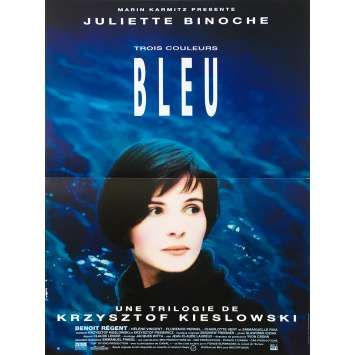 THREE COLORS - BLUE Original Movie Poster - 15x21 in. - 1993 - Krzysztof Kieslowski, Juliette Binoche