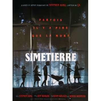 PET SEMATARY Original Movie Poster - 47x63 in. - 2019 - Kevin Kölsch, Dennis Widmyer, Dale Midkiff