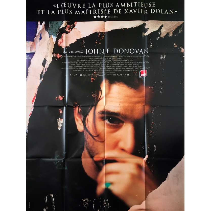 MA VIE AVEC JOHN F. DONOVAN Affiche de film - 120x160 cm. - 2018 - Kit Harington, Xavier Dolan