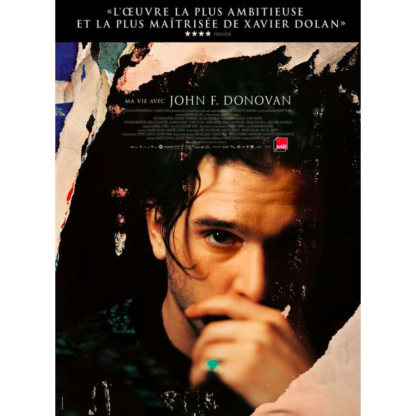 THE DEATH AND LIFE OF JOHN F. DONOVAN Original Movie Poster - 15x21 in. - 2018 - Xavier Dolan, Kit Harington