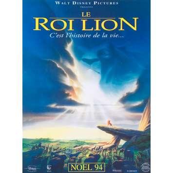 THE LION KING Original Movie Poster - 15x21 in. - 1994 - Walt Disney, Matthew Broderick