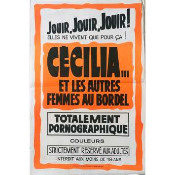 CECILIA ET LES AUTRES FEMMES AU BORDEL Affiche de film - 40x60 cm. - 1980 - Hélène Shirley, Joe de Palmer