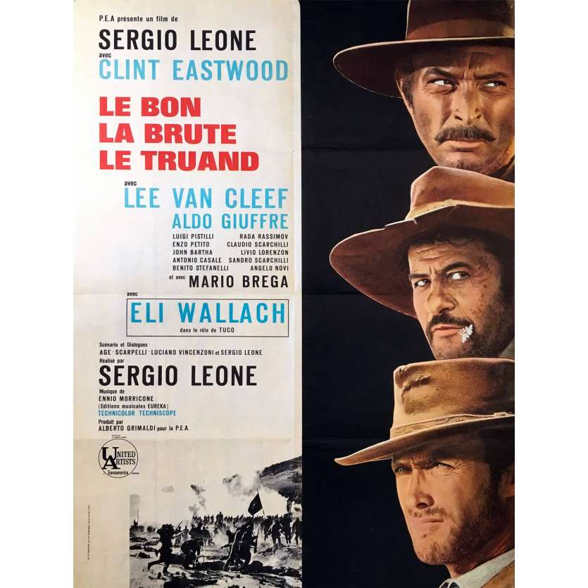 THE GOOD THE BAD AND THE UGLY Movie Poster 23x32 in. - R1970 - Sergio Leone, Clint Eastwood