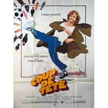 COUP DE TETE Affiche de film - 120x160 cm. - 1979 - Patrick Dewaere, Jean-Jacques Annaud
