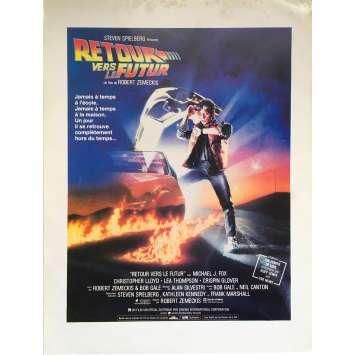 BACK TO THE FUTURE Original Herald 2p - 9x12 in. - 1985 - Robert Zemeckis, Michael J. Fox