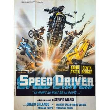 SPEED DRIVER Affiche de film - 120x160 cm. - 1980 - Senta Berger, Stelvio Massi