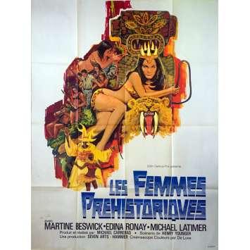 LES FEMMES PREHISTORIQUES Affiche de film - 120x160 cm. - 1967 - Edina Ronay, Michael Carreras