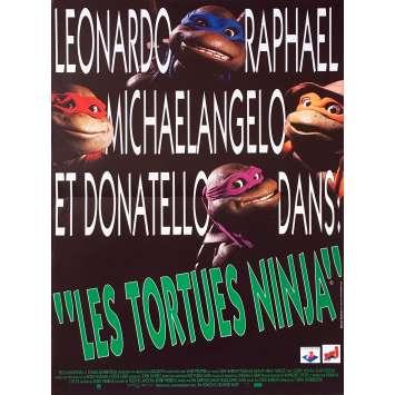 TEENAGE MUTANT NINJA TURTLES Original Movie Poster - 15x21 in. - 1990 - Steve Barron, Elias Koteas