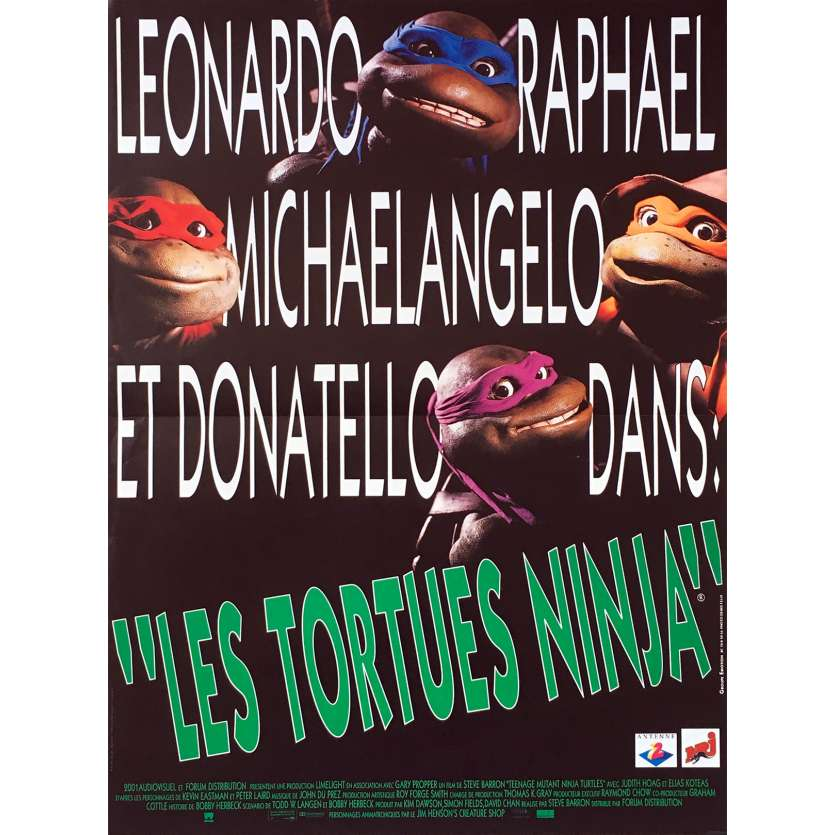 TEENAGE MUTANT NINJA TURTLES Original Movie Poster - 15x21 in. - 1990 - Steve Barron, Elias Koteas