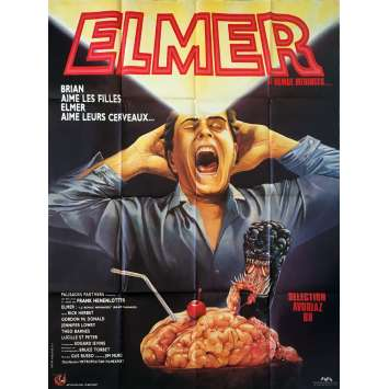 ELMER LE REMUE MENINGES Affiche de film - 120x160 cm. - 1988 - Rick Hearst, Frank Henenlotter