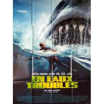 EN EAUX TROUBLES Affiche de film - 120x160 cm. - 2018 - Jason Statham, Jon Turteltaub