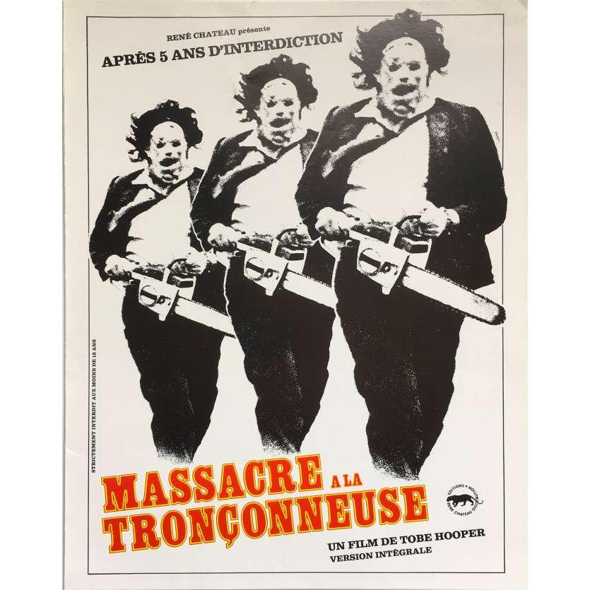 MASSACRE A LA TRONÇONNEUSE Synopsis 4p - 21x30 cm. - 1974 - Marilyn Burns, Tobe Hooper