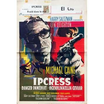 IPCRESS DANGER IMMEDIAT Affiche de film - 35x55 cm. - 1965 - Michael Caine, Sidney J. Furie