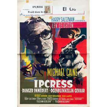 THE IPCRESS FILES Original Movie Poster - 14x21 in. - 1965 - Sidney J. Furie, Michael Caine