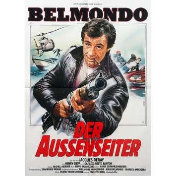 L'ALPAGUEUR Affiche de film - 59x84 cm. - 1976 - Jean-Paul Belmondo, Philippe Labro
