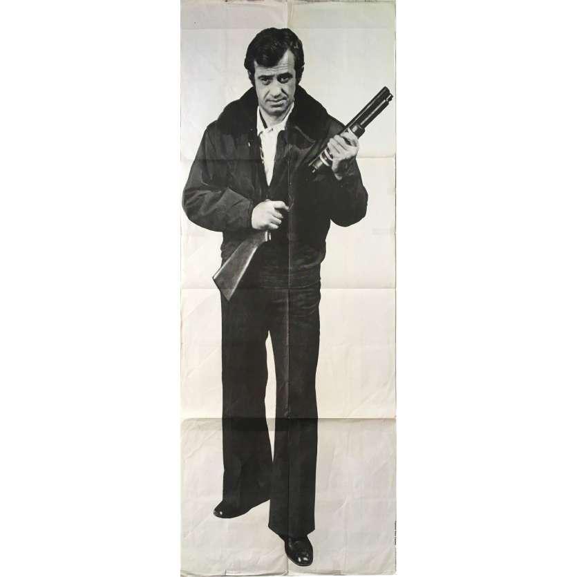 HUNTER WILL GET YOU Original Movie Poster - 23x63 in. - 1976 - Philippe Labro, Jean-Paul Belmondo