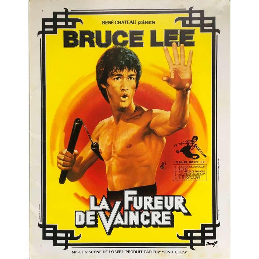 LA FUREUR DE VAINCRE Synopsis 4p - 21x30 cm. - 1972 - Bruce Lee, Wei Lo