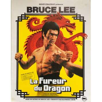 THE WAY OF THE DRAGON Original Herald 4p - 9x12 in. - 1974 - Bruce Lee, Bruce Lee, Chuck Norris