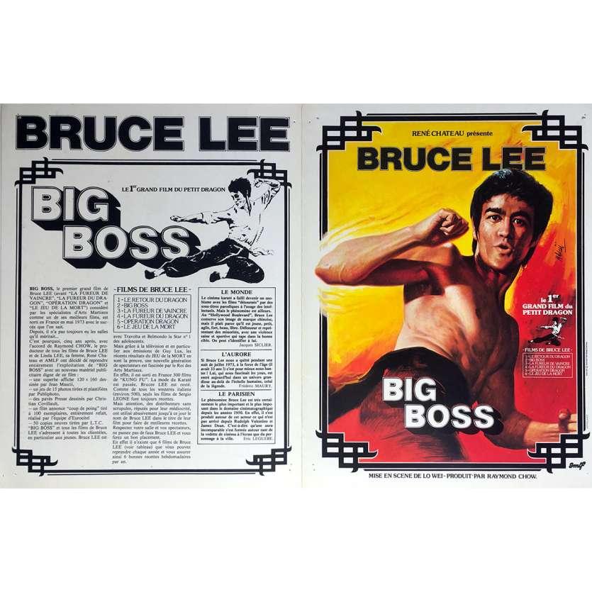 GAME OF DEATH / THE BIG BOSS Original Herald 4p - 9x12 in. - 1974 - Bruce Lee, Bruce Lee