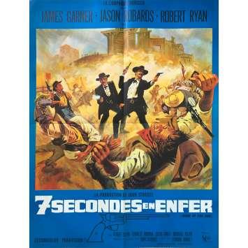 7 SECONDES EN ENFER Affiche de film - 60x80 cm. - 1967 - James Garner, John Sturges