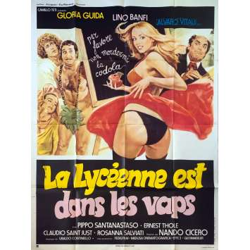 LA LICEALE, IL DIAVOLO E L'ACQUASANTA Original Movie Poster - 47x63 in. - 1979 - Nando Cicero, Gloria Guida