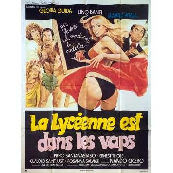 LA LYCEENNE EST DANS LES VAPES Affiche de film - 120x160 cm. - 1979 - Gloria Guida, Nando Cicero