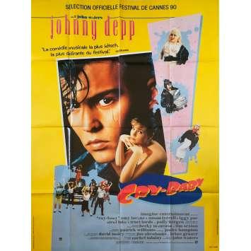 CRY BABY Affiche de film - 120x160 cm. - 1990 - Johnny Depp, John Waters