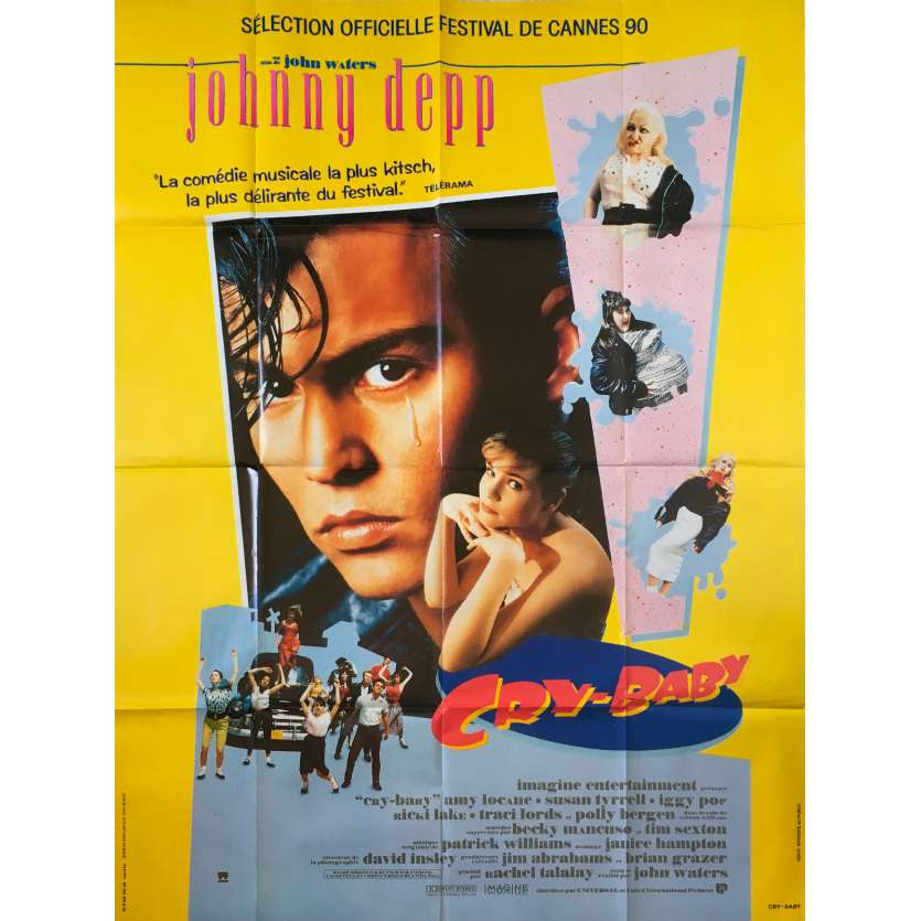 CRY BABY Original Movie Poster - 47x63 in. - 1990 - John Waters, Johnny Depp