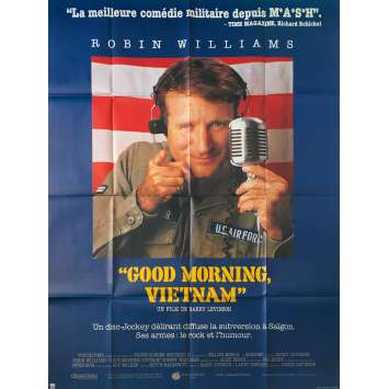 GOOD MORNING VIETNAM Original Movie Poster - 47x63 in. - 1987 - Barry Levinson, Robin Williams