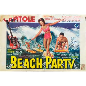 BEACH PARTY Original Movie Poster - 14x21 in. - 1963 - William Ashter, Robert Cummings