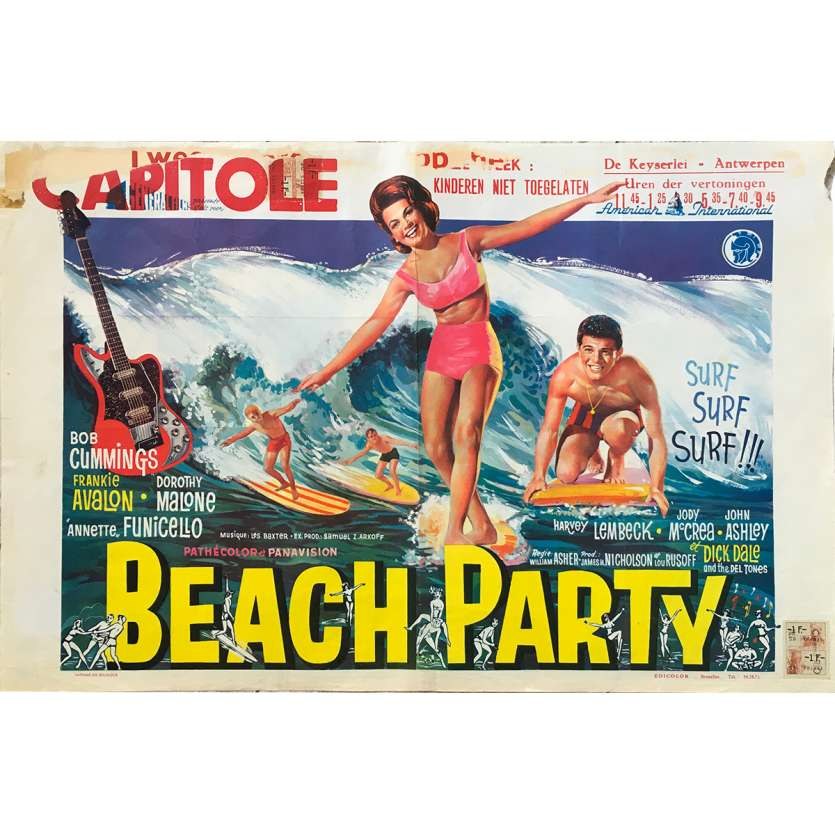 BEACH PARTY Affiche de film - 35x55 cm. - 1963 - Robert Cummings, William Ashter