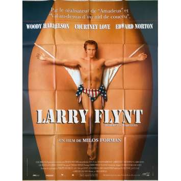 THE PEOPLE VS. LARRY FLINT Original Movie Poster - 47x63 in. - 1996 - Milos Forman, Woody Harrelson