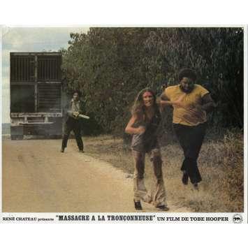 MASSACRE A LA TRONÇONNEUSE Photo de film N09 - 21x30 cm. - 1974 - Marilyn Burns, Tobe Hooper