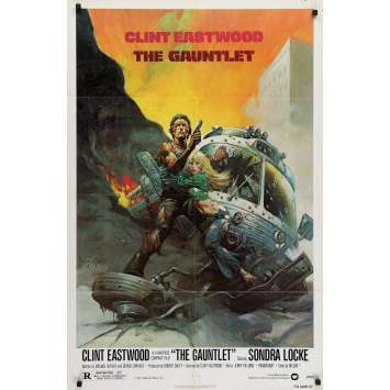 THE GAUNTLET Original Movie Poster - 27x41 in. - 1977 - Clint Eastwood, Sondra Locke