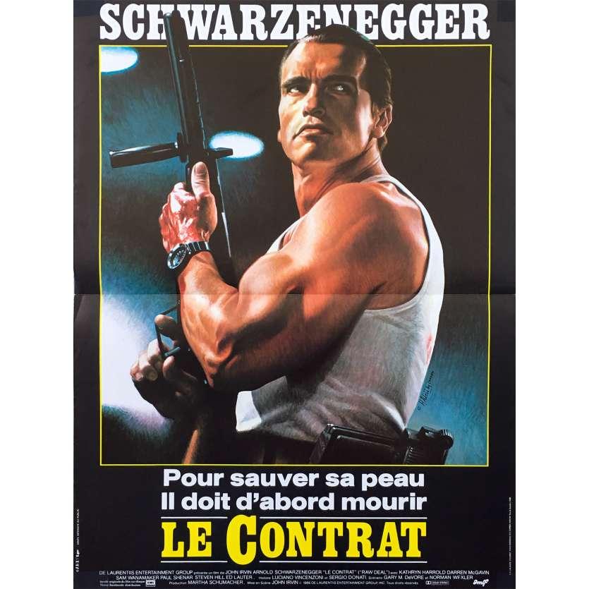 RAW DEAL French Movie Poster 15x21 - 1986 - John Irvin, Arnold Schwarzenegger
