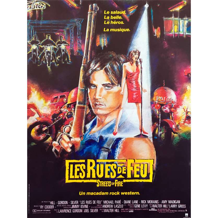 STREET FIRE French Movie Poster 15x21 '84 Walter Hill