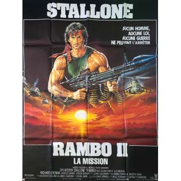 RAMBO 2 French Movie Poster 47x63 '84 Sylvester Stallone