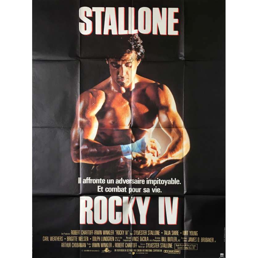 ROCKY 4 Affiche 120x160 FR '84 Sylvester Stallone Movie Poster