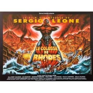 THE COLOSSUS OF RHODES Original Movie Poster - 15x21 in. - R1980 - Sergio Leone, Lea Massari