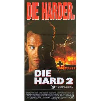 58 MINUTES POUR VIVRE Affiche de film - 33x78 cm. - 1990 - Bruce Willis, Renny Harlin