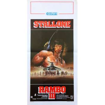 RAMBO 3 III Affiche de film - 33x71 cm. - 1988 - Richard Crenna, Sylvester Stallone